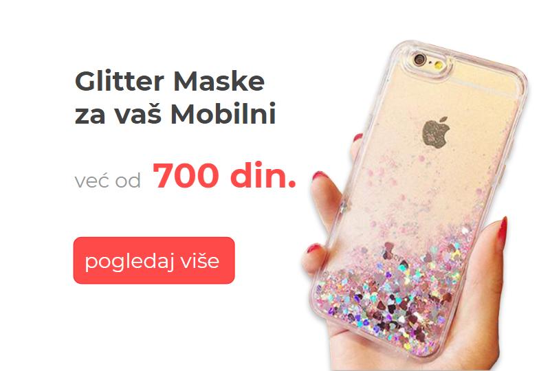 Maske sa šljokicama za sve modele telefona