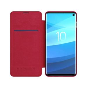 Kožna Samsung S10 futrola crvena (65465)