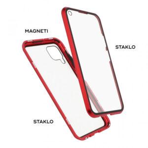 Huawei P40 Lite magnetna maska 360° crvena