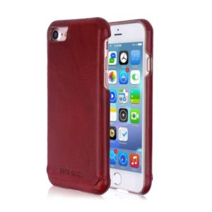 Kožna maska iPhone SE bordo + 🎁 POKLON zaštitno staklo