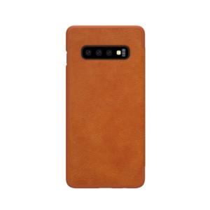Kožna Samsung S10 futrola braon (65463)
