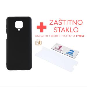 Maska Redmi Note 9 Pro crna + Zaštitno staklo