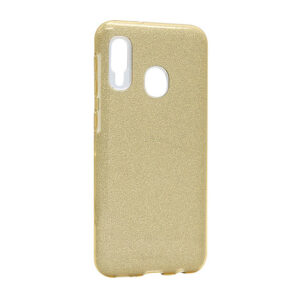 Glitter maska Samsung A21s zlatna (F85660)