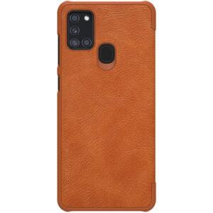 Kožna Samsung A21s futrola braon (82896)