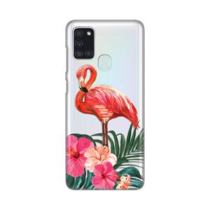 Print Maska Samsung A21s Flamingo