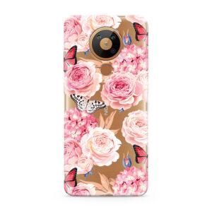 Print maska za Nokia 5.3 ruže (F87131)