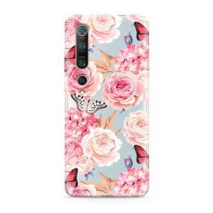 Print maska za Xiaomi Mi 10 Pro ruže (F85405)