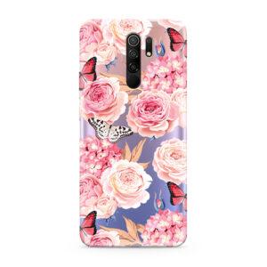 Print maska za Xiaomi Redmi 9 ruže (F87162)