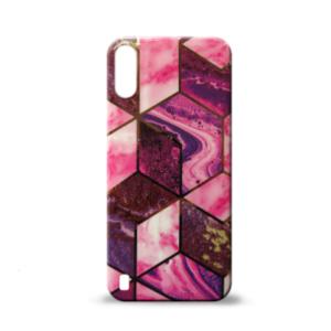 Samsung A01 maska GEOMETRIKA pink