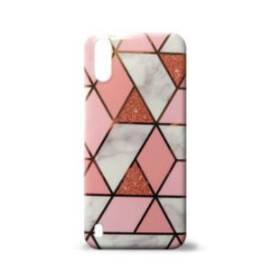 Samsung A01 maska GEOMETRIKA roze mermer