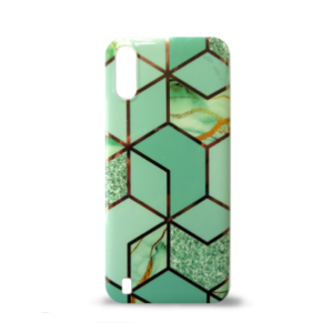 Samsung A01 maska GEOMETRIKA zelena