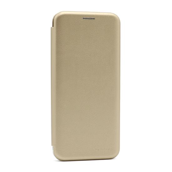 Futrola na preklop Samsung A21s zlatna lice