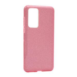 Huawei P40 maska roze sa šljokicama (F85667)