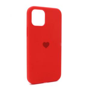 iPhone 12 maska crvena SRCE (87278)