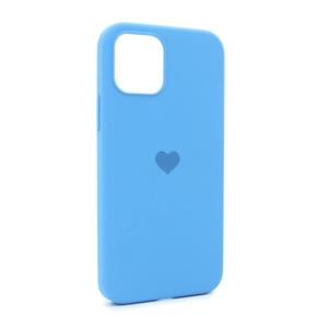 iPhone 12 maska plava SRCE (87283)