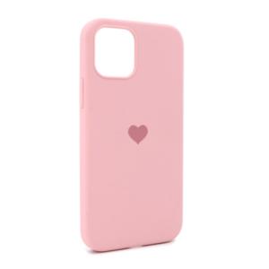iPhone 12 maska roze SRCE (87281)