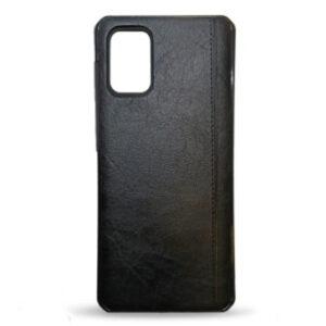 Kožna maska za Samsung A71 crna