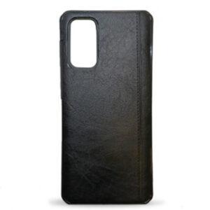 Kožna maska za Samsung S20 crna