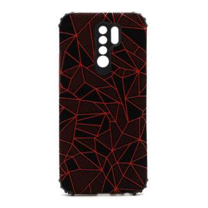 Xiaomi Redmi 9 maska mozaik crvena (F88394)