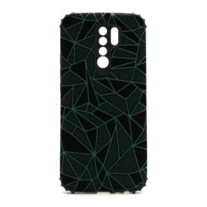 Xiaomi Redmi 9 maska mozaik zelena (F88395)