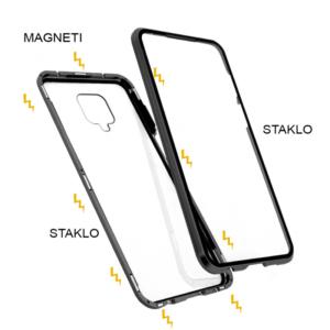 Redmi Note 9S magnetna maska 360° crna