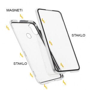 Samsung A11 magnetna maska 360° srebrna