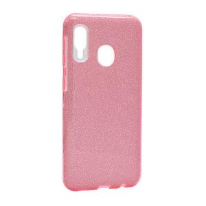 Samsung A20e maska roze sa šljokicama (F85657)