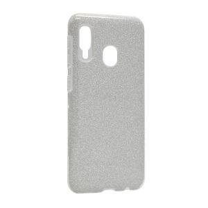 Samsung A20e maska srebrna sa šljokicama (F85658)