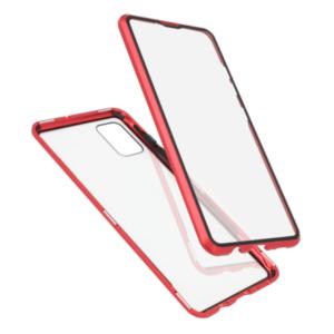 Samsung A51 magnetna maska 360° crvena