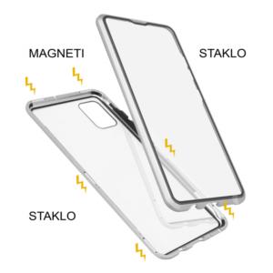 Samsung A51 magnetna maska 360° srebrna