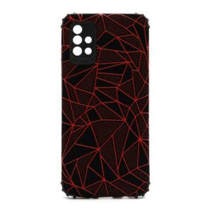 Samsung A51 maska mozaik crvena (F88390)