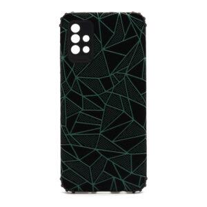 Samsung A51 maska mozaik zelena (F88391)