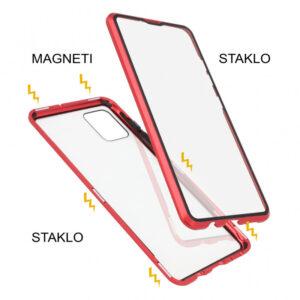 Samsung A71 magnetna maska 360° crvena