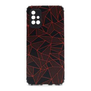 Samsung A71 maska mozaik crvena (F88378)