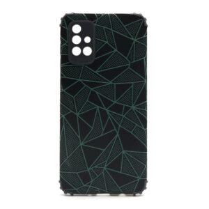 Samsung A71 maska mozaik zelena (F88379)