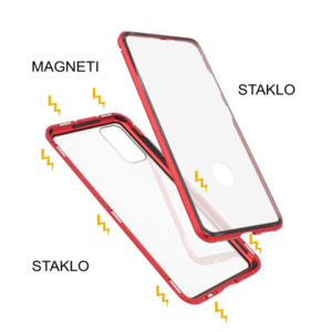 Samsung S20 magnetna maska 360° crvena
