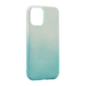 iPhone 12 Pro maska srebrno tirkizna sa šljokicama (F89883)