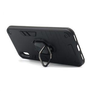 Huawei Y6 2019 maska crna Defender sa prstenom (F89794)