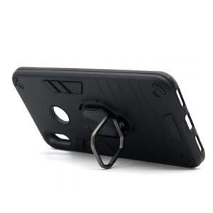 Huawei Y7 2019 maska crna Defender sa prstenom (F89786)