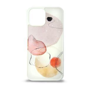 iPhone 12 maska apstrakt roze 3D ART