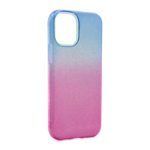 iPhone 12 maska plavo ljubičasta sa šljokicama (F89882)