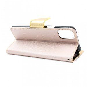 LG K42 futrola preklopna zlatna (89365)