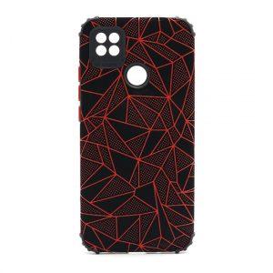 Xiaomi Redmi 9C maska mozaik crvena (F89711)