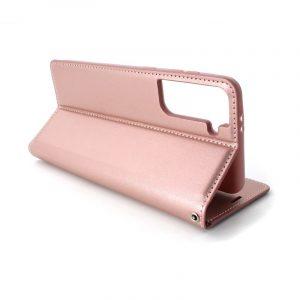 Samsung S21 preklopna futrola roze (89331)
