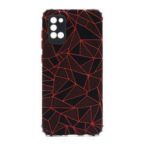 Samsung A31 maska mozaik crvena (F89707)