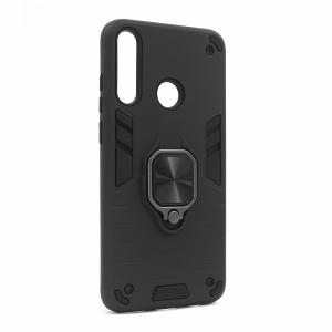 Huawei Y6p maska crna Defender sa prstenom (88212)