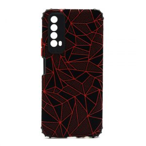 Huawei P Smart 2021 maska mozaik crvena (F90383)
