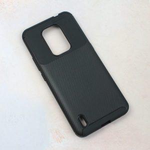 Maska za Motorola Moto E7 crna karbon (90314)