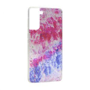 Samsung S21 maska pink plava ART (F90857)