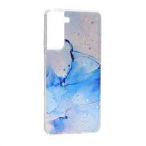 Samsung S21 maska roze plava ART (F90853)